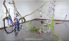 Floke, 2011. Diverse tekstile materialer, broderi, søm, div. teknikker